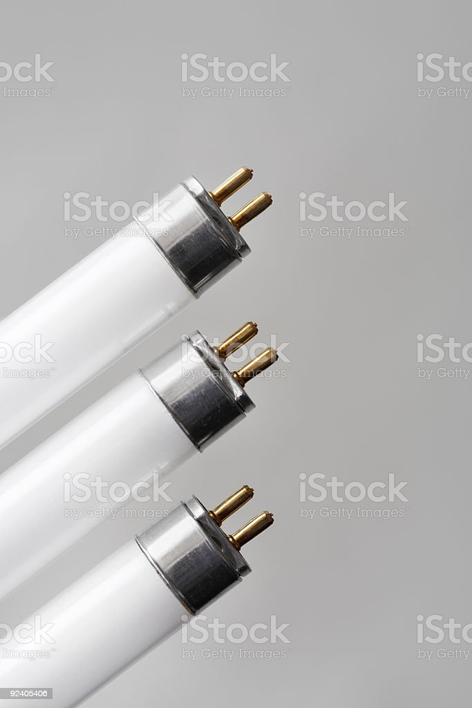 Fluorescent tubes stock photo