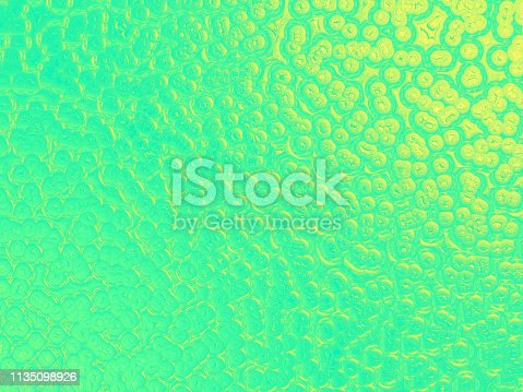 Fluorescent UFO Green Yellow Shiny Crocodile Snake Dinosaur Dragon Reptile Leather Texture Abstract Bubble Bead Foam Background Luxury Texture Ombre Glittering Pattern Party Invitation Backdrop Retro Style Design Template Extreme Close Up Computer Graphic