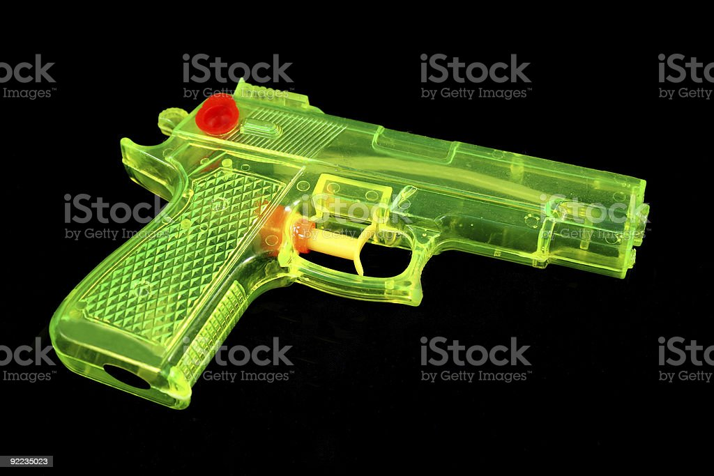 Fluorescent Water Pistol stock photo