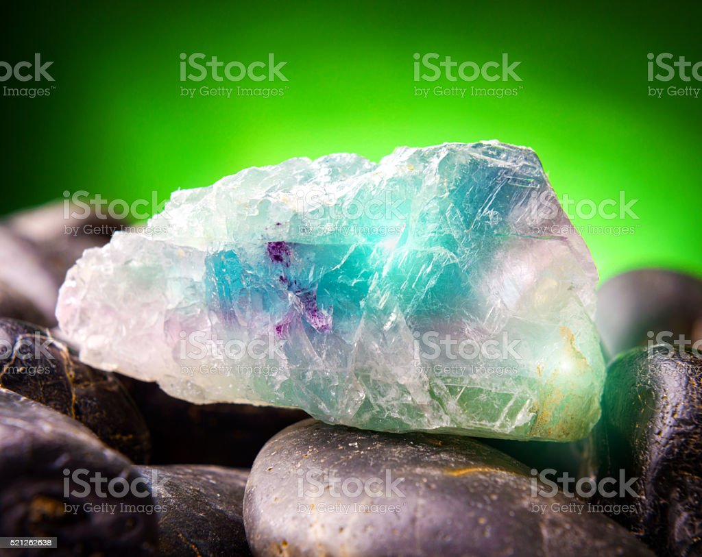 Fluorite also called fluorspar stock photo