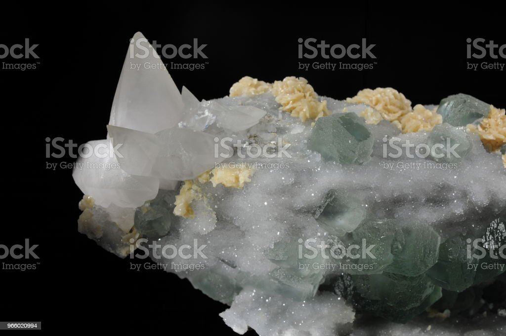 Fluorite, calcite, dolomite and quartz - Royalty-free Backgrounds Stock Photo