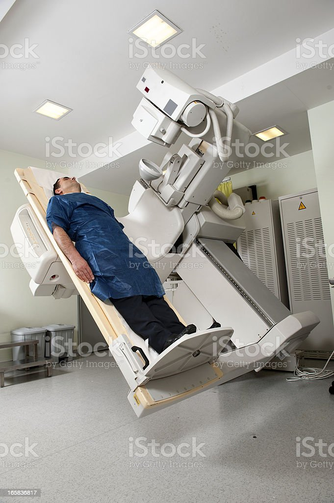 Fluoroscopy Machine With Patient Stock Photo - Download