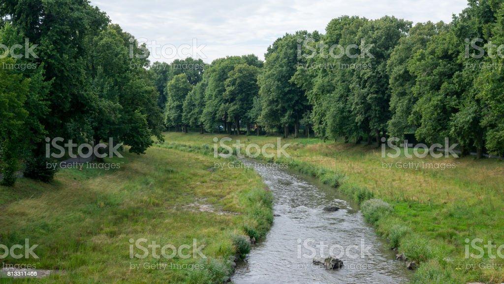 Flusslauf in Europa stock photo