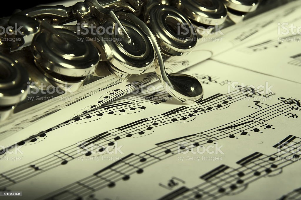 Flute Classic music concept royalty-free stock photo