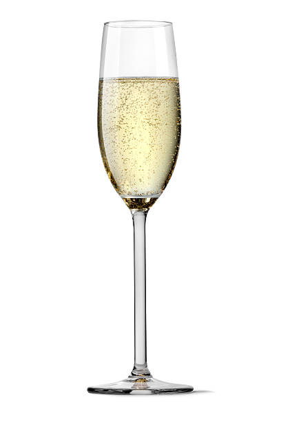 Flute of champagne silhouetted on white background More Photos like this here... 2013 stock pictures, royalty-free photos & images