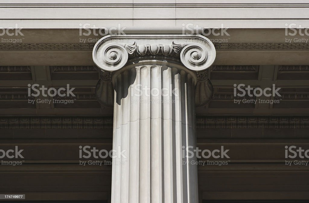 Fluted Column and Capital royalty-free stock photo