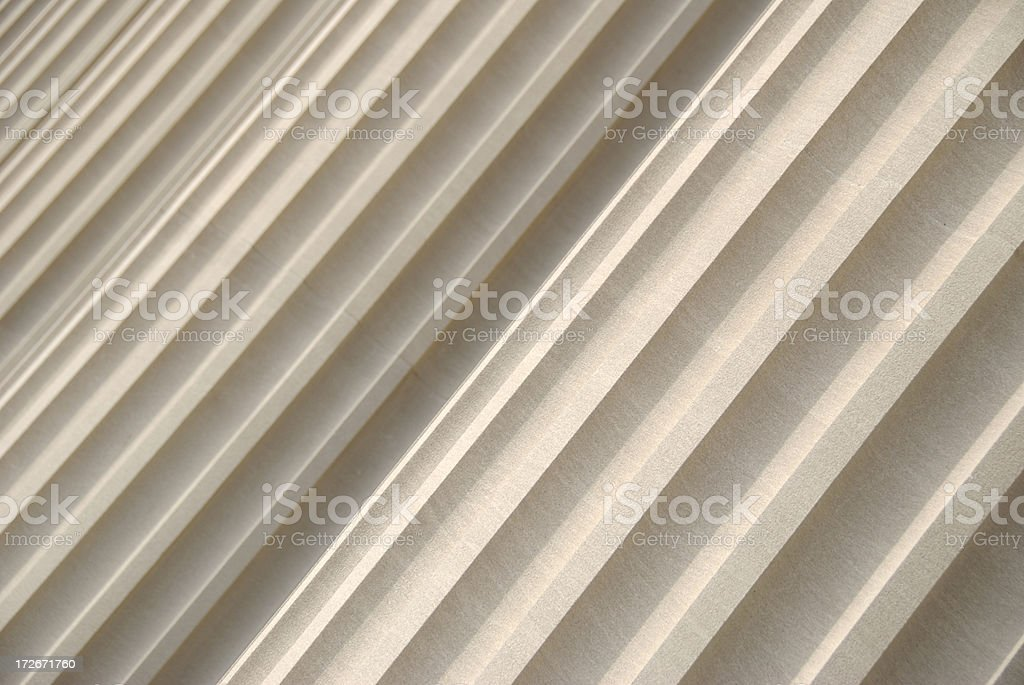 Fluted Granite Columns Full Frame Diagonal stock photo