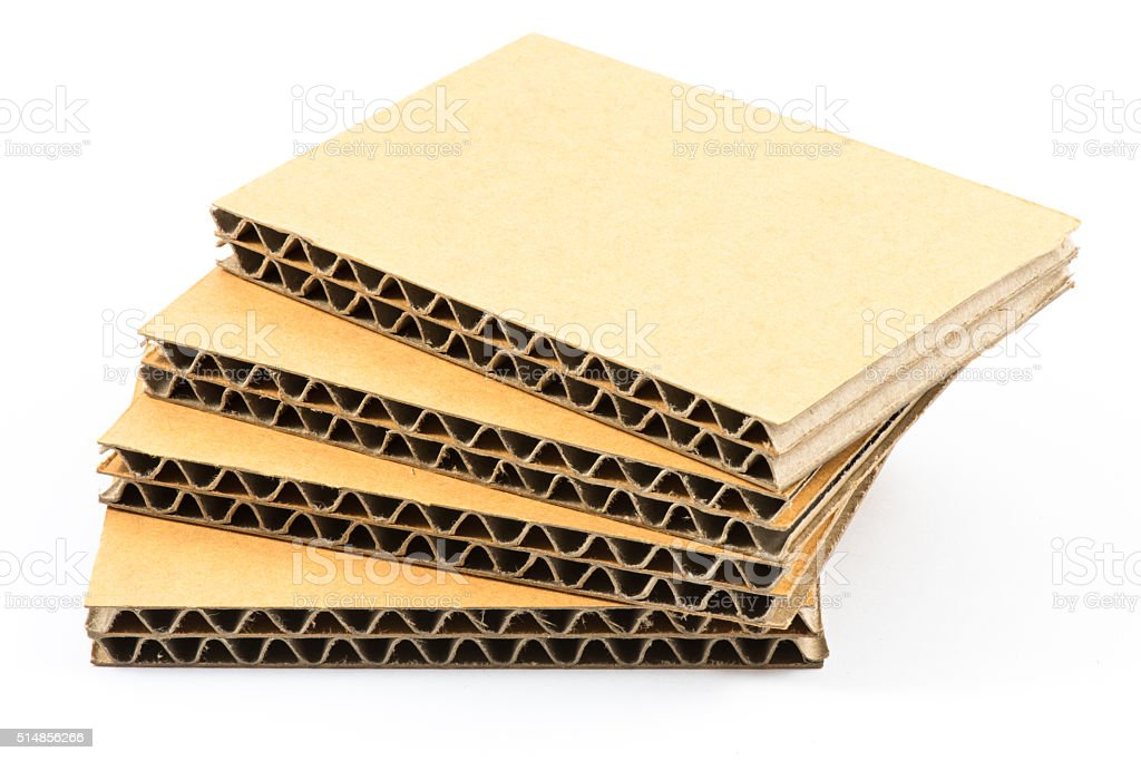 Aa Flutes Double Wall Corrugated Cardboard Sheets Isolated