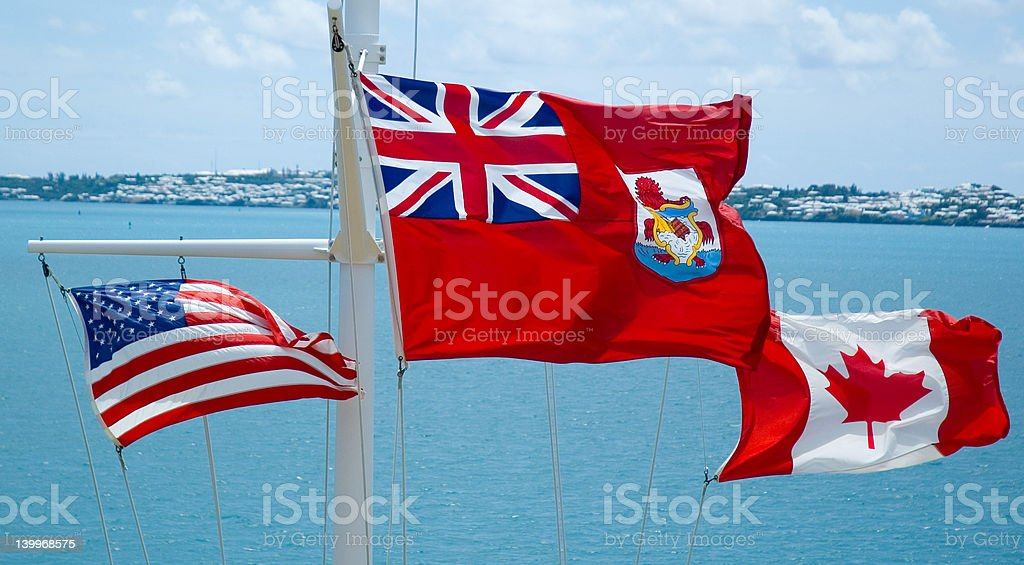 Fluttering Flags royalty-free stock photo
