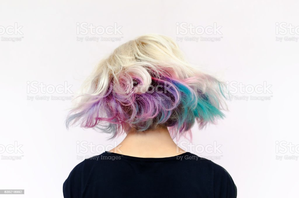 Fluttering hair stock photo