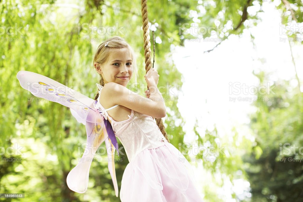 Fluttering upon the swing royalty-free stock photo