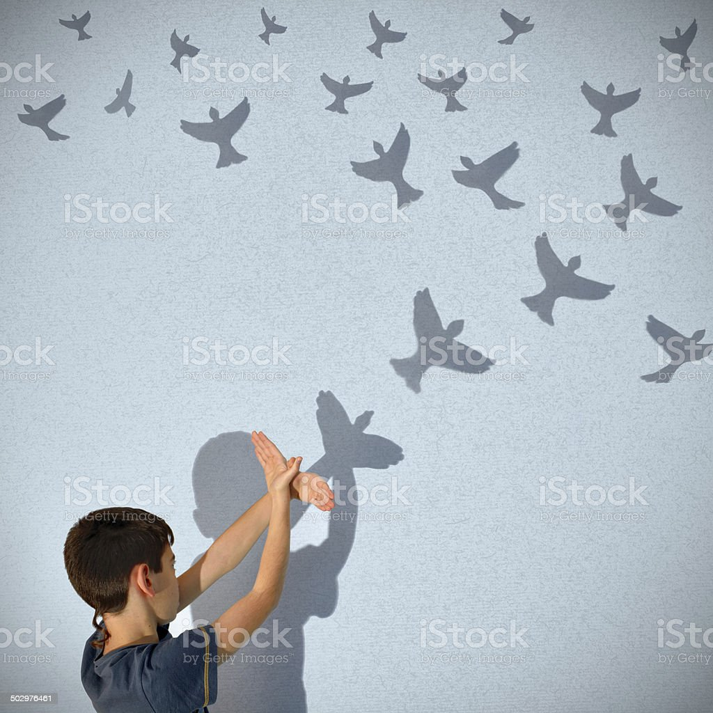 Fly Away stock photo