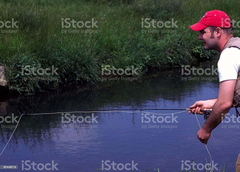 Fly Fisher Cropped royalty-free stock photo