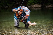 istock A fly fisherman fishing a trouts in mountain river 1270274800