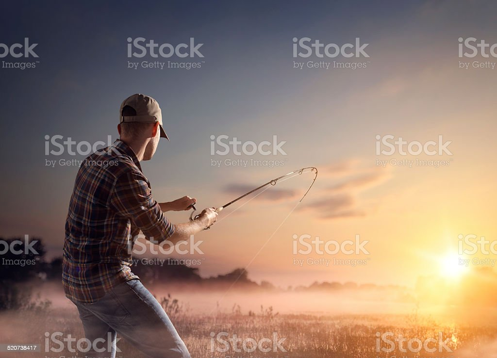 Fly Fisherman stock photo