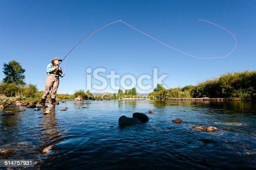 istock Fly fishing, casting 514757931