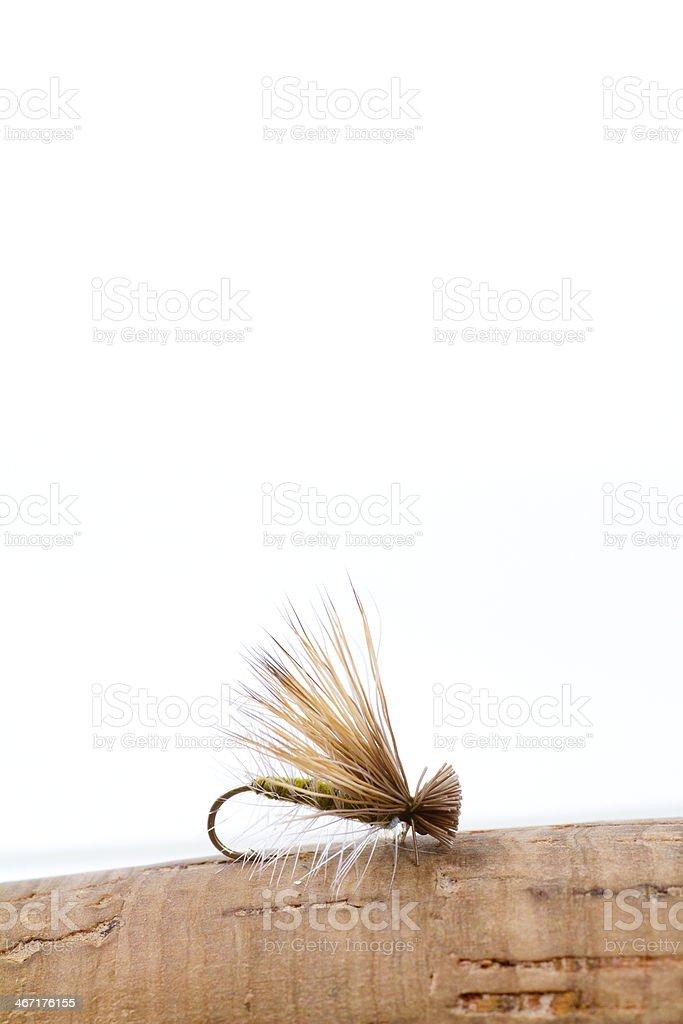 Fly Fishing Dry Caddis stock photo