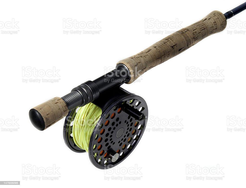 Fly fishing equipment stock photo