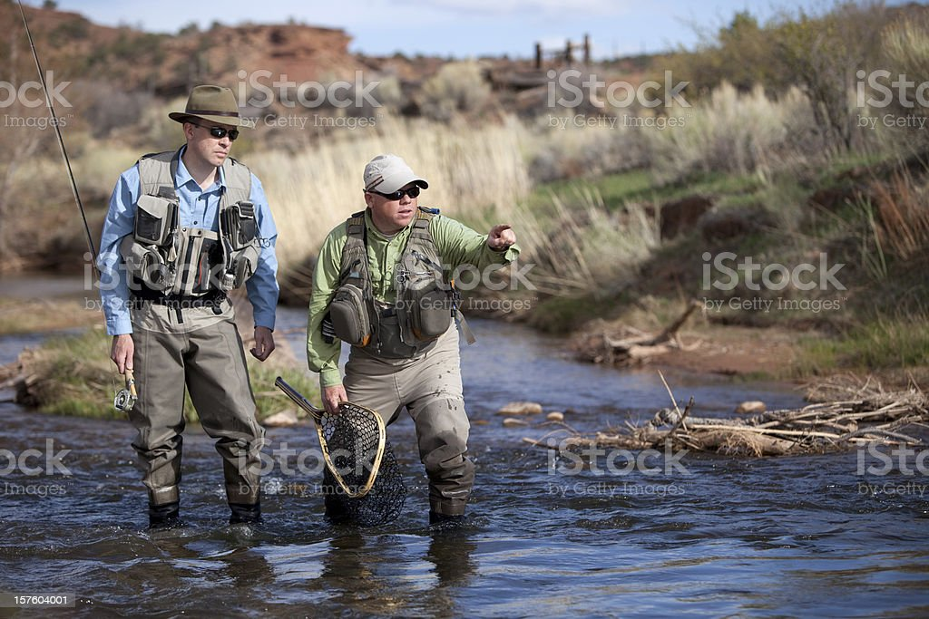 Fly Fishing Guide stock photo