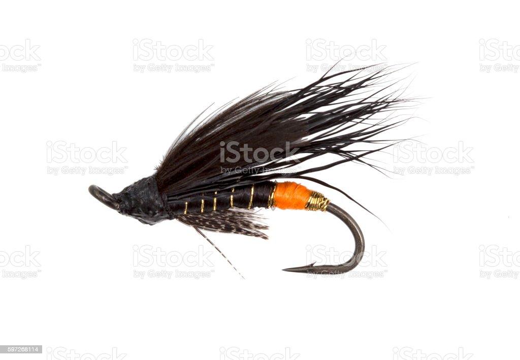 fly fishing hook Lizenzfreies stock-foto