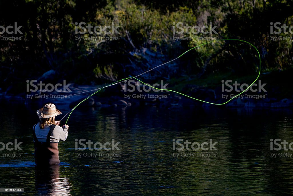 Fly Fishing in Argentina royalty-free stock photo
