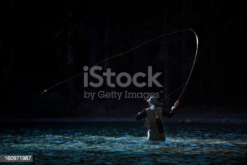istock Fly Fishing in the River 160971987