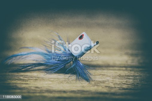 istock Fly fishing lure retro style 1155063000