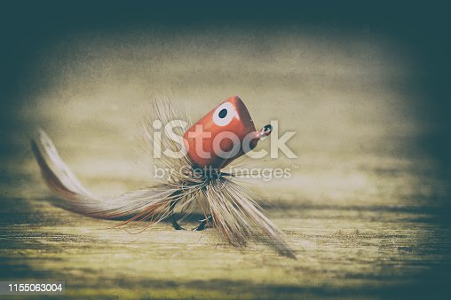 istock Fly fishing lure retro style 1155063004
