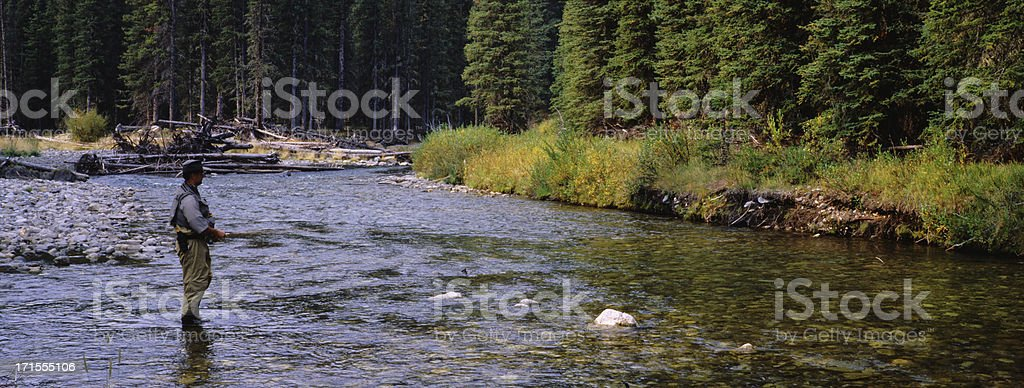 Fly Fishing Panoramic background royalty-free stock photo