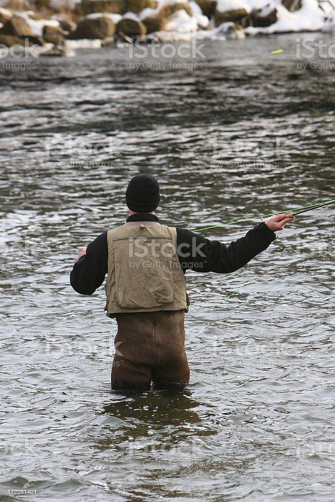 Fly Fishing royalty-free stock photo