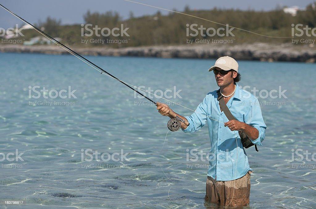 Fly Fishing stock photo