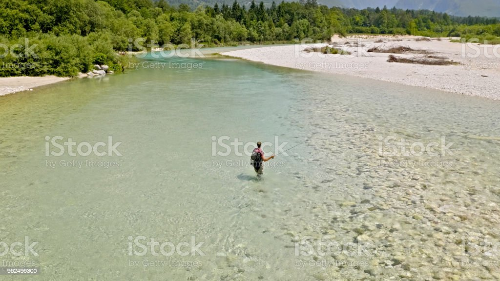 Fly fishing - Royalty-free 35-39 Years Stock Photo