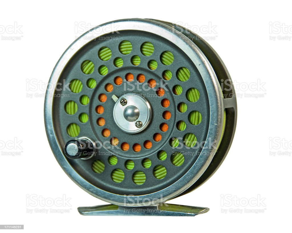 Fly Fishing Rell... Clipping path stock photo
