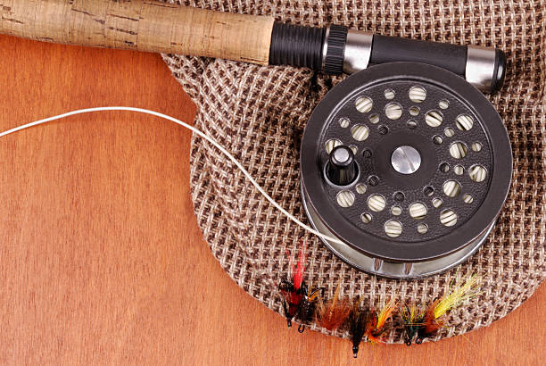 b6e155334 Fishing Fly On Tweed Stock Photos, Pictures & Royalty-Free Images ...