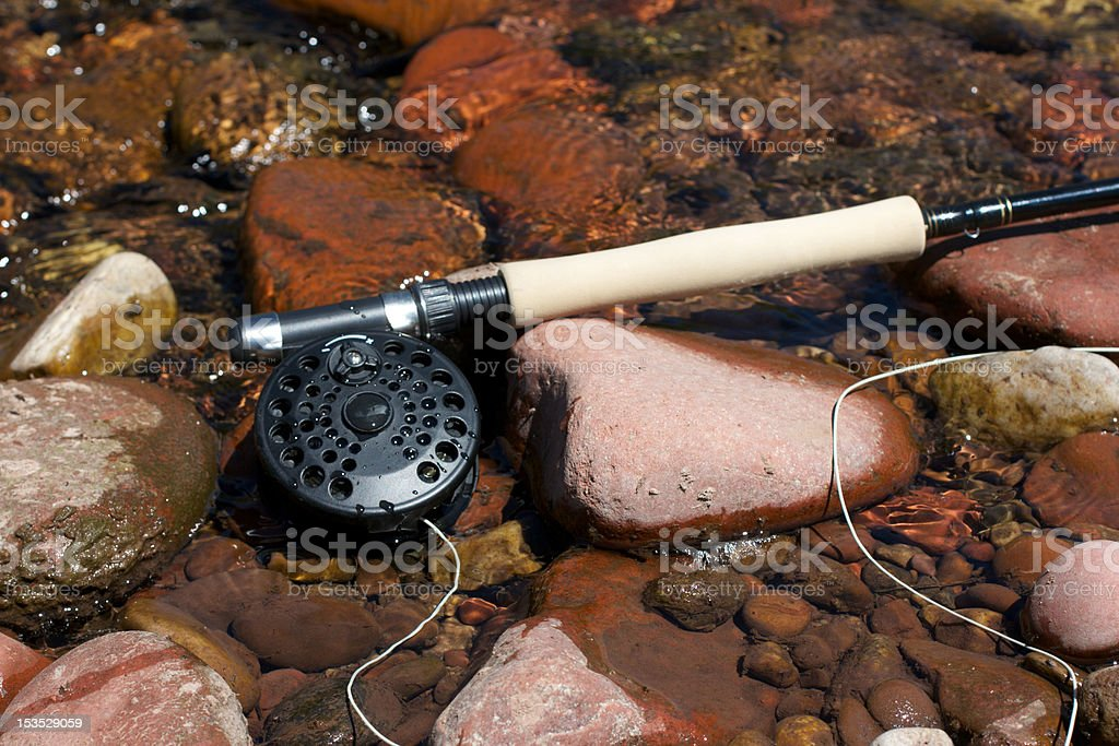 Fly Fishing Rod stock photo
