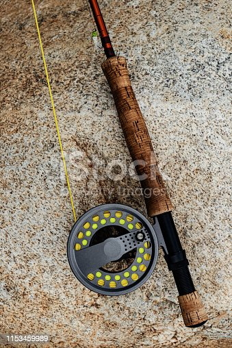A nine foot, 8wt fly rod for salmon fishing.