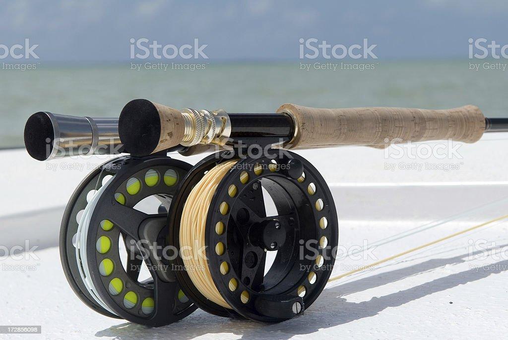 fly fishing salt water stock photo
