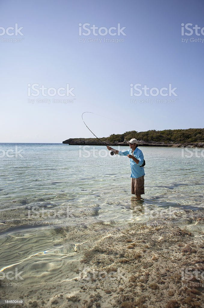 Fly Fishing Saltwater stock photo