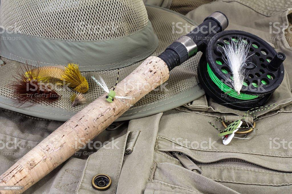 Fly Fishing Still Life stock photo