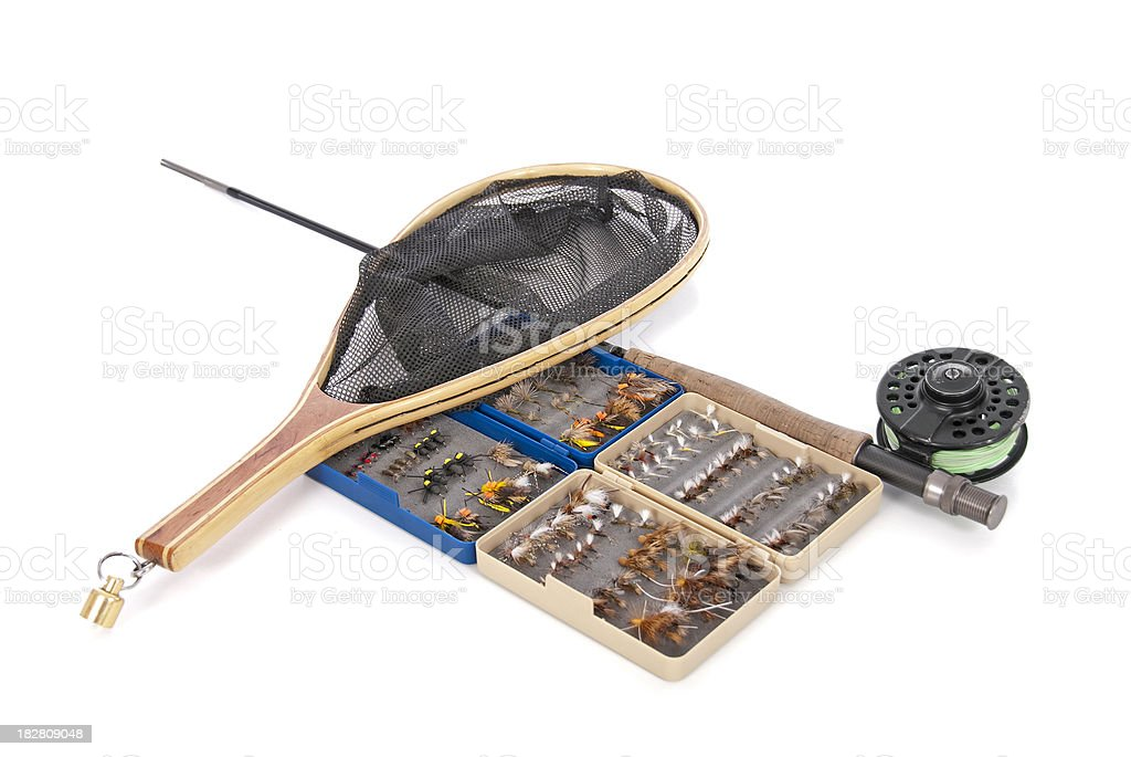 Fly Fishing Supplies royalty-free stock photo