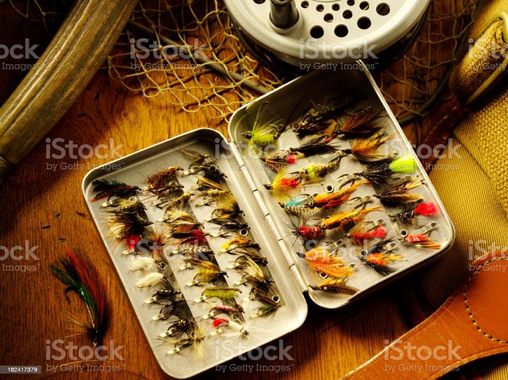 Fly Fishing Tackle royalty-free stock photo