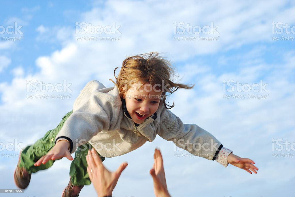 Fly Girl! stock photo