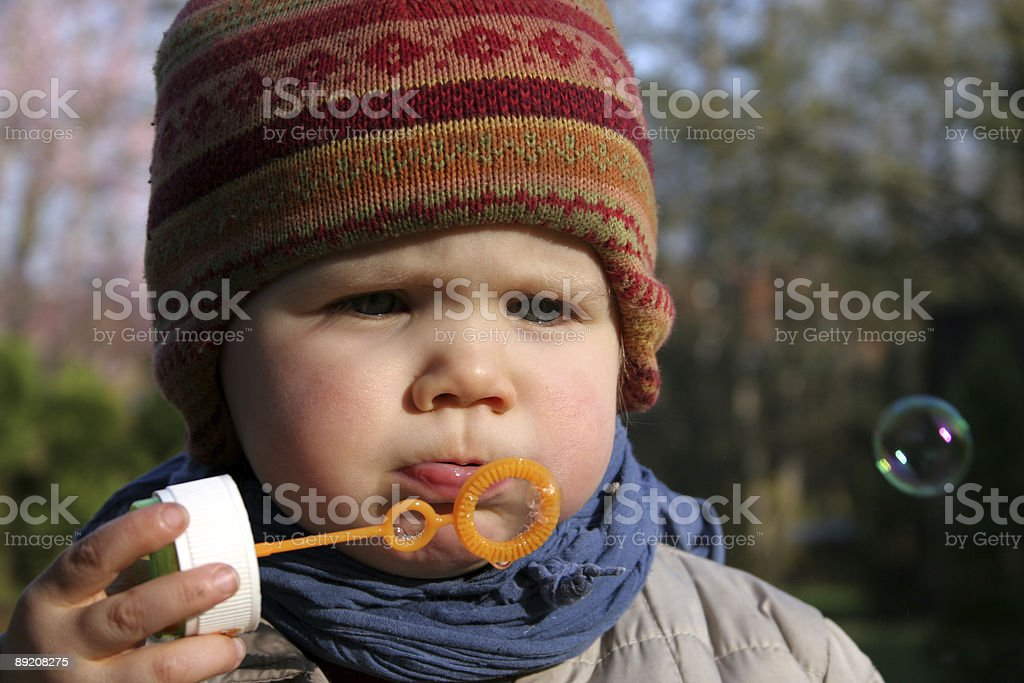 Fly, little bubble! royalty-free stock photo