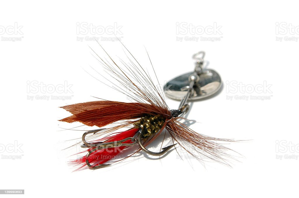 Fly lure. royalty-free stock photo
