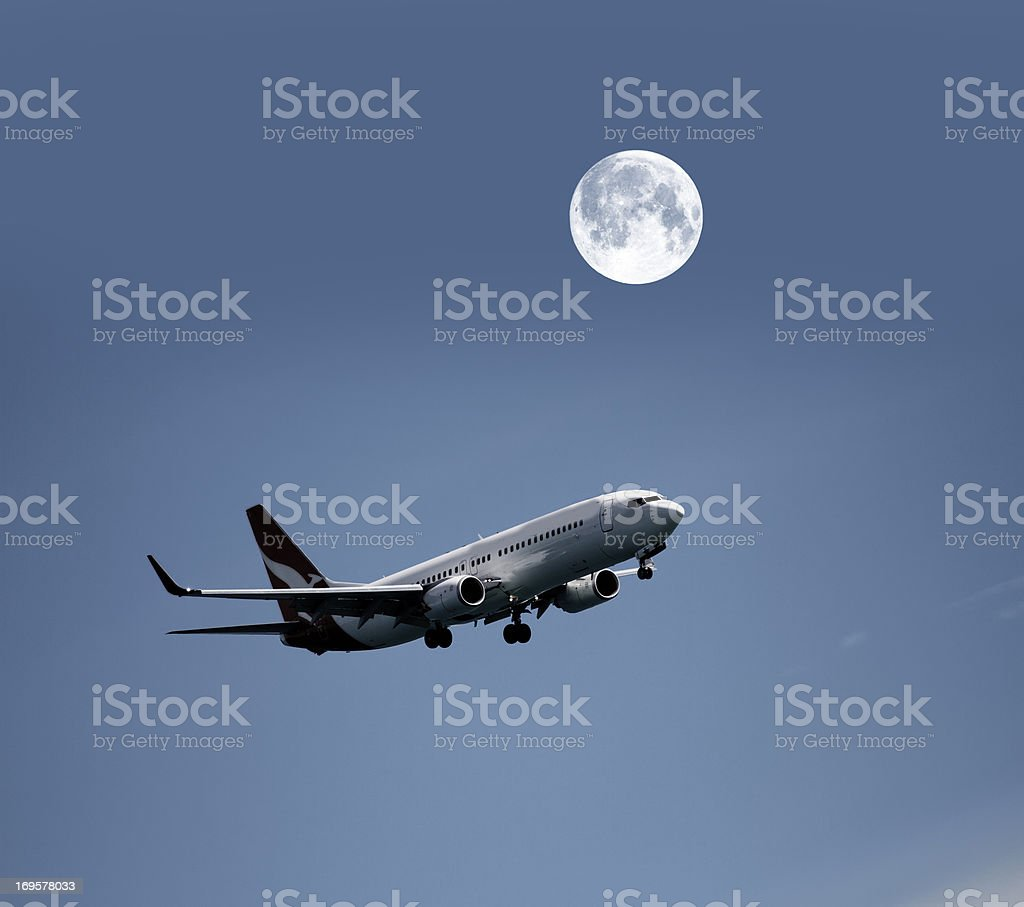 Fly me to the moon royalty-free stock photo