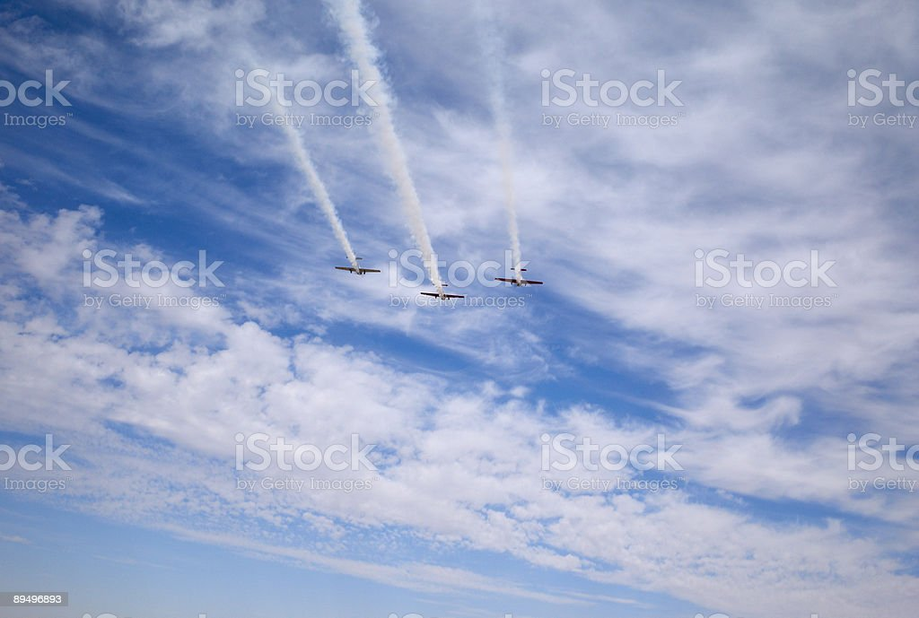 Volare sopra foto stock royalty-free