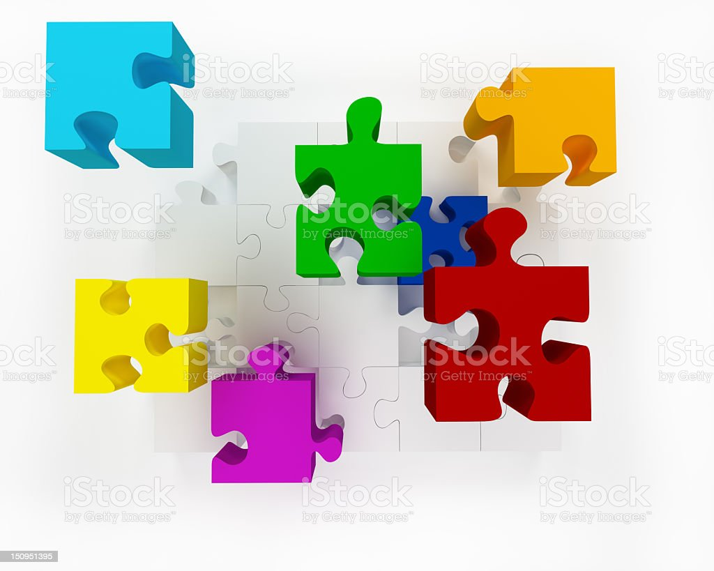 Fly Puzzle royalty-free stock photo