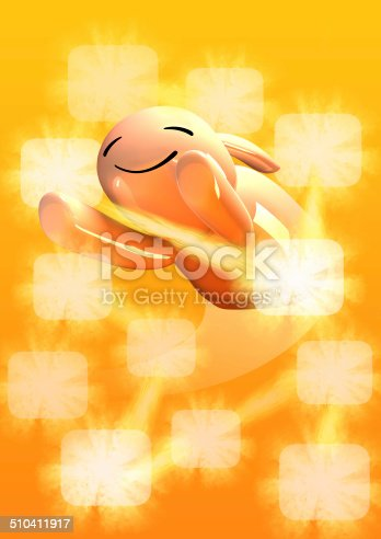 istock fly rabbit with blank frames 510411917