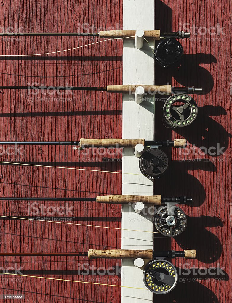 Fly Rods royalty-free stock photo