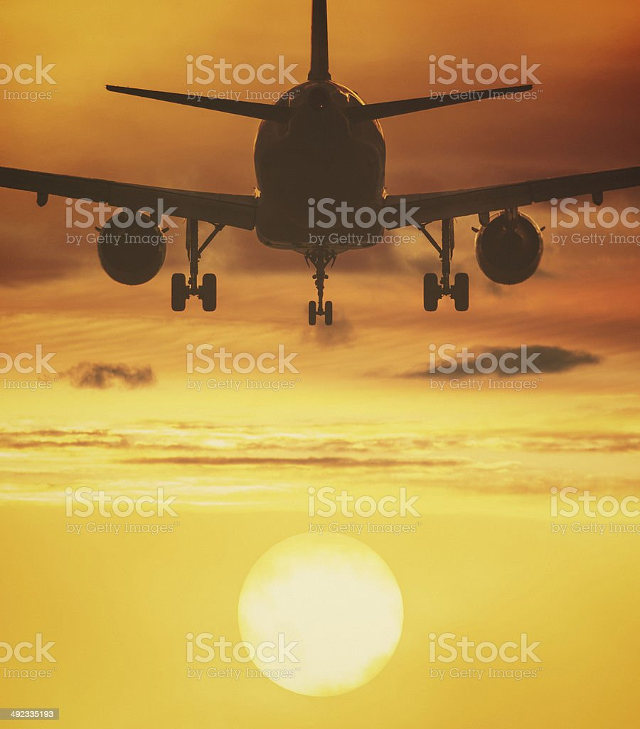 Fly to the Sun stock photo